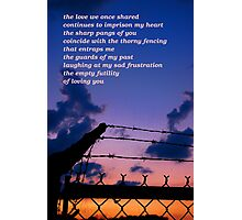 Love's Prison Photographic Print