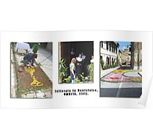 "Montefalco Series #05 – Flowers in the Streets ""Infiorata"", a local custom Poster"