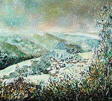 snow in frahan belgium by calimero