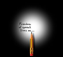 Freedom of speech lives on. by Alex Preiss