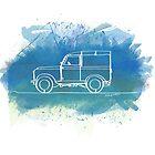 Land Rover Series II - Single Line by douglaswood