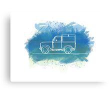 Land Rover Series II - Single Line Canvas Print