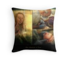 a visit to the dentist Throw Pillow