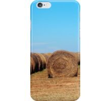 Round Bales Of Hay iPhone Case/Skin