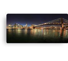 New York Skyline by Night Canvas Print