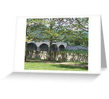 River Wall View Greeting Card