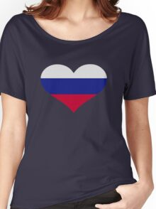 Slovakia flag heart Women's Relaxed Fit T-Shirt