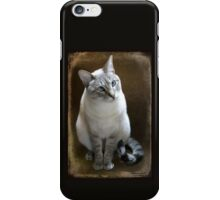 Lilac Point Siamese ~ Old Blue Eyes iPhone Case/Skin