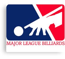 Major League Billiards Canvas Print