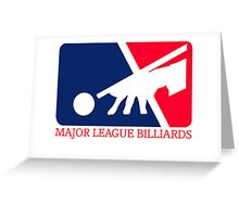 Major League Billiards Greeting Card