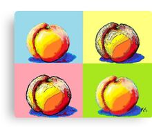 4 Peaches, Like Andy Warhol Canvas Print