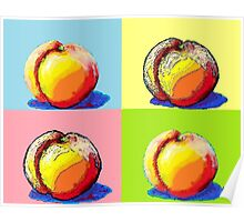 4 Peaches, Like Andy Warhol Poster