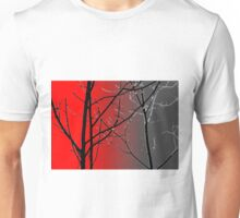 Red And Gray Unisex T-Shirt