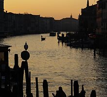 The Grand Canal in Venice at Dusk by sceneryphotosto