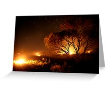 Fire Trees: Long Exposure Greeting Card