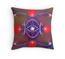 Red Bubble Energizer Throw Pillow