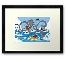 Mech Kraken Framed Print