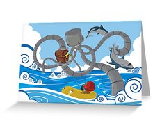 Mech Kraken Greeting Card