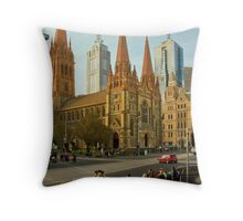 St Paul's Cathedral Melbourne Throw Pillow