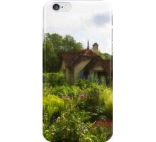English Cottage Gardens - Summer Green in Watercolor iPhone Case/Skin