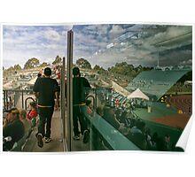 reflections at homebush bay, sydney Poster