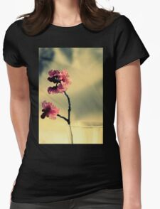 Pink Blossoms And Vase Womens Fitted T-Shirt