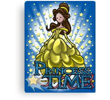 Princess Time - Belle Canvas Print