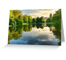 Impressions of Summer - St James's Park Lake Reflections Greeting Card
