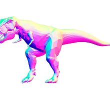 Rainbow Normal T-Rex by lawwk