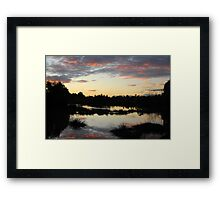 Lake in Suburbia Framed Print