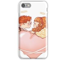 Funny kiss iPhone Case/Skin