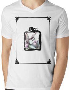 Pink Flower Fairy Mens V-Neck T-Shirt