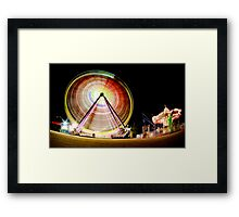 Birrarung Mar Ferris Wheels Framed Print