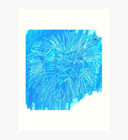 Leo the Lion is the king of the jungle and his jaws are big and wide Art Print