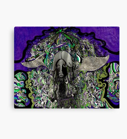 A dark angel  Canvas Print