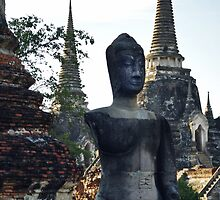 Ancient Buddha And Chedi's by Dave Lloyd