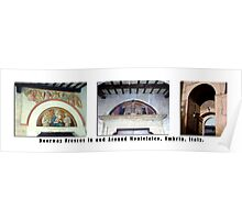 Montefalco Series #12 – Many doorway arches are decorated with old religious frescos Poster