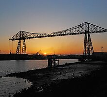 The Transporter Bridge at Middlesbrough England by dougie1