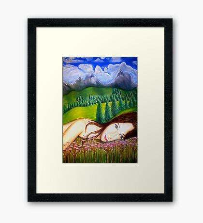 Amy's Travels - Pastels Framed Print