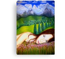 Amy's Travels - Pastels Canvas Print