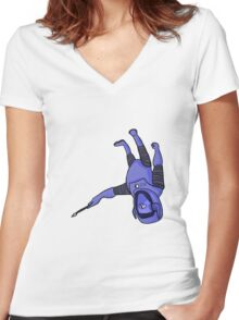 Artistronaut  Women's Fitted V-Neck T-Shirt