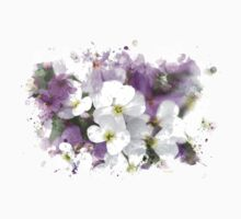 Wildflower Watercolor Art Kids Clothes