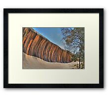 Wave Rock - HDR Framed Print