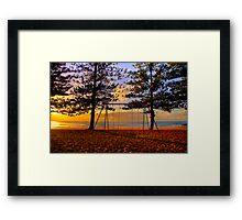 Swing Time  - Whale Beach - Sydney Beaches  - The HDR Series Framed Print
