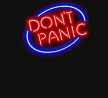 "Hitchhiker's Guide - ""Don't Panic"" Neon Sign Unisex T-Shirt"