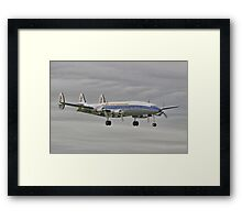 "The Lockheed Constellation (""Connie"") Arrives At Farnborough ! - HDR Framed Print"