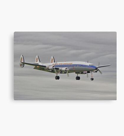"The Lockheed Constellation (""Connie"") Arrives At Farnborough ! - HDR Canvas Print"