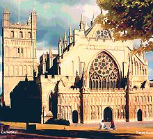 Exeter Cathedral by Peter Sandilands