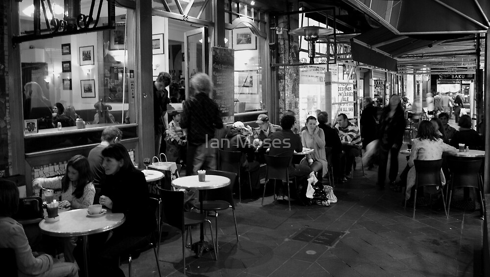 Melbourne Alley Coffee Shop by Ian Moses