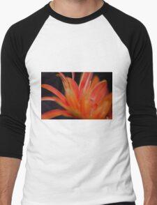 Flower Flames  Men's Baseball ¾ T-Shirt